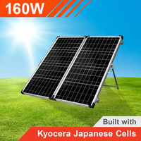 160w 12v Portable Solar Panel with Kyocera Japanese Cells