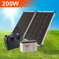 200W Complete Portable Solar Kit with Battery