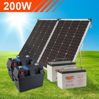 200W Complete Portable Solar Kit with Dual Batteries