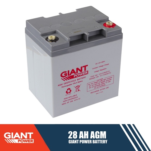 28ah 12v Agm Deep Cycle Battery With Australia Wide
