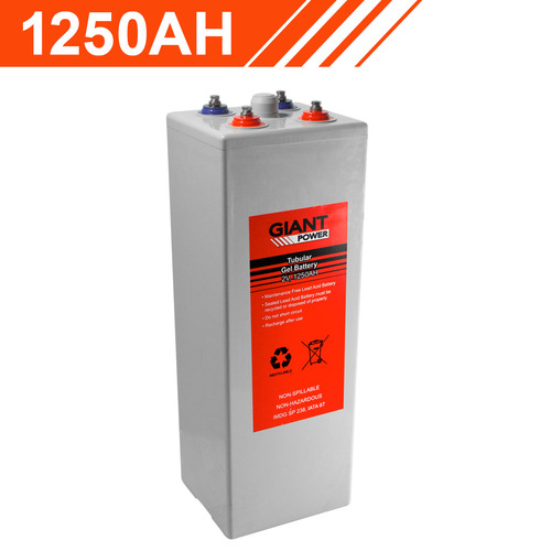 Giant Power 1250AH 2V Tubular Gel Battery