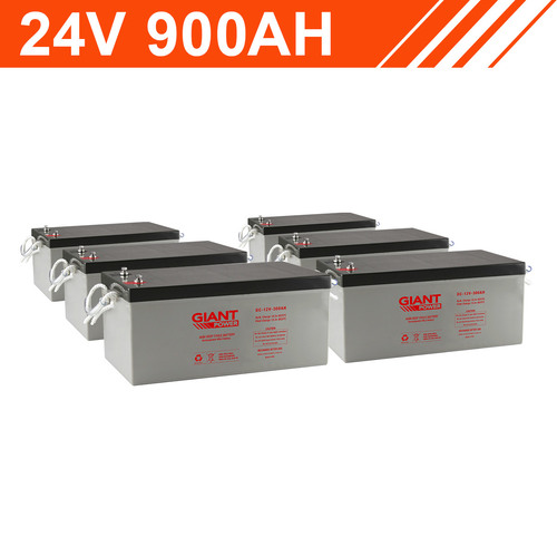 21.6kWh 24V 900AH Giant Power AGM Battery Bank (12V cells)
