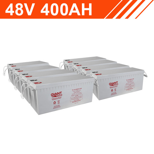19.2kWh 48V 400AH Tubular Gel Battery Bank (12V cells)