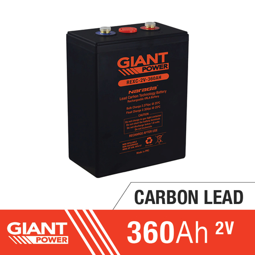 360AH 2V Carbon Lead Battery